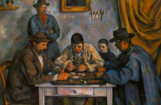 Peinture-de-joueur-de-poker