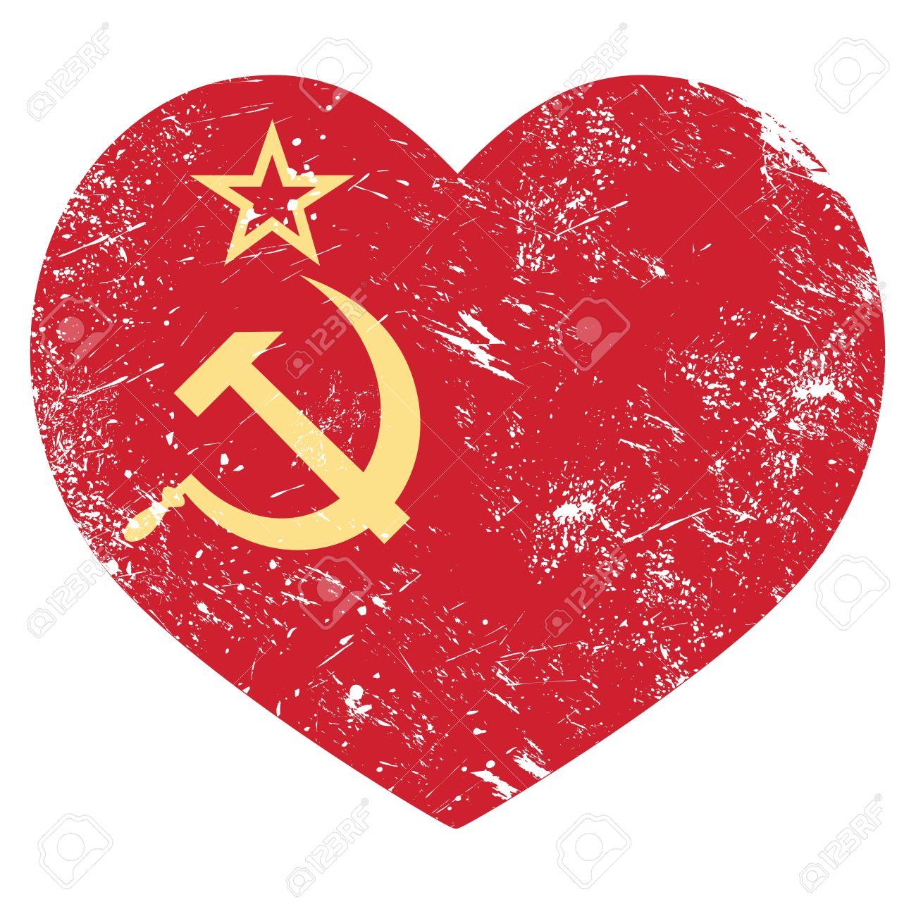 18622806-URSS-Union-Sovi-tique-drapeau-coeur-r-tro-Banque-d'images